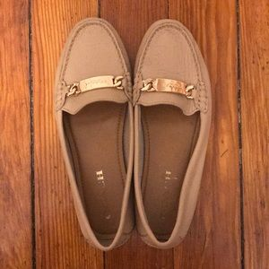 """Coach Olive leather loafers in """"beechwood"""""""